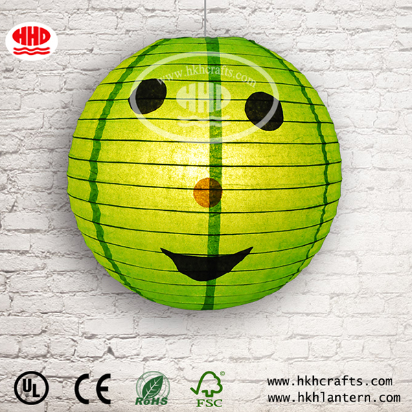 Attractive Face Shaped Halloween Round Paper Lantern Wholesale
