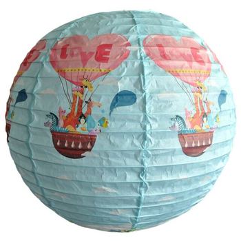 Kids Room Decoration Cartoon Printed Lovely Round Paper Lantern