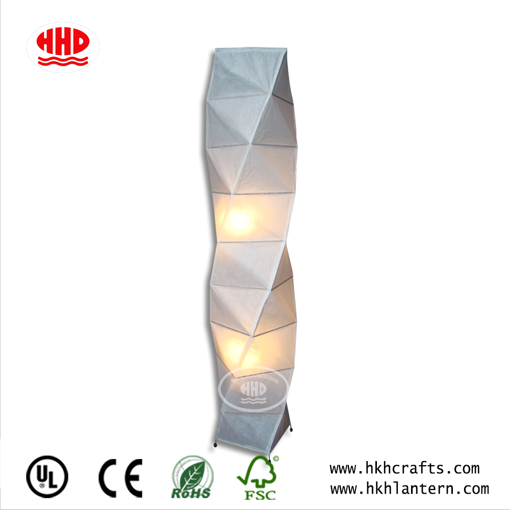 Origami Paper Lampshades Paper Floor Lamp for Living Room/Bed Room Decoration