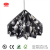 LED Light Origami Paper Lamp Shade Black Folding Pendent Lantern For Wedding Decoration
