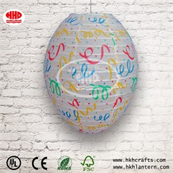 Wholesale Christmas decoration egg shape oval paper lantern
