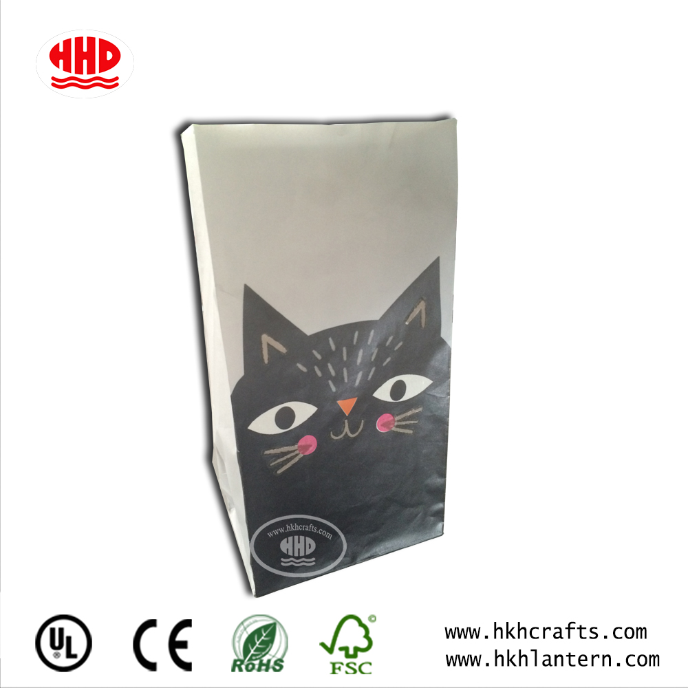 Chinese Craft Paper Printed Candle Bag for Light Decorative 2018
