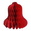 Wholesale Hanging Christmas Ornaments Paper Decorations Red Large Tissue Paper Honeycomb Bells for Party Supplies