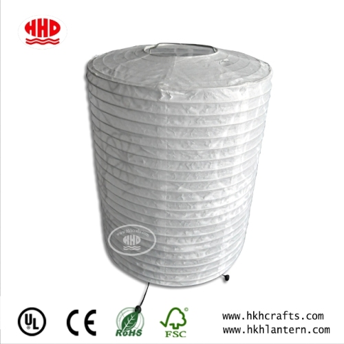 Fold Cylinder Table Lamp with Paper Shade in Variety Size