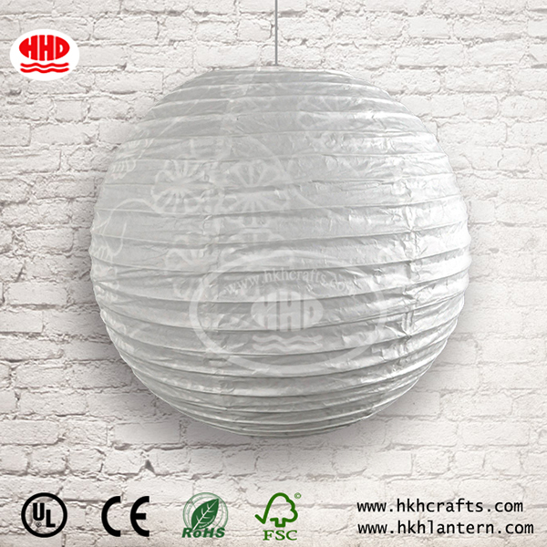 16 Inch Collapsible White Round Paper Pendant Lantern Lamp Shades