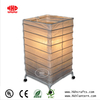 Square Bamboo Structure 4 Legs Papel Table Lamp with Electric Cord