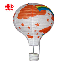 Rainbow Printable Hot Air Balloon Shaped Paper Lantern for Kids Room Decor