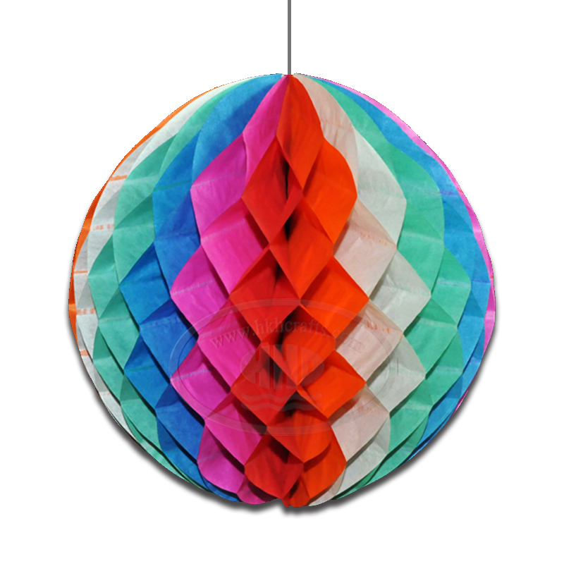 "14"" Diameter Factory Bulk Sale Jumbo Multi Color Tissue Paper Honeycomb Ball for Theme Party Decoration"