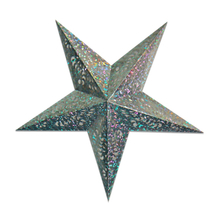 Party Favor glittering silver Laser Cut Out 5 pint Star Paper Lantern in variety size and color bulk sale