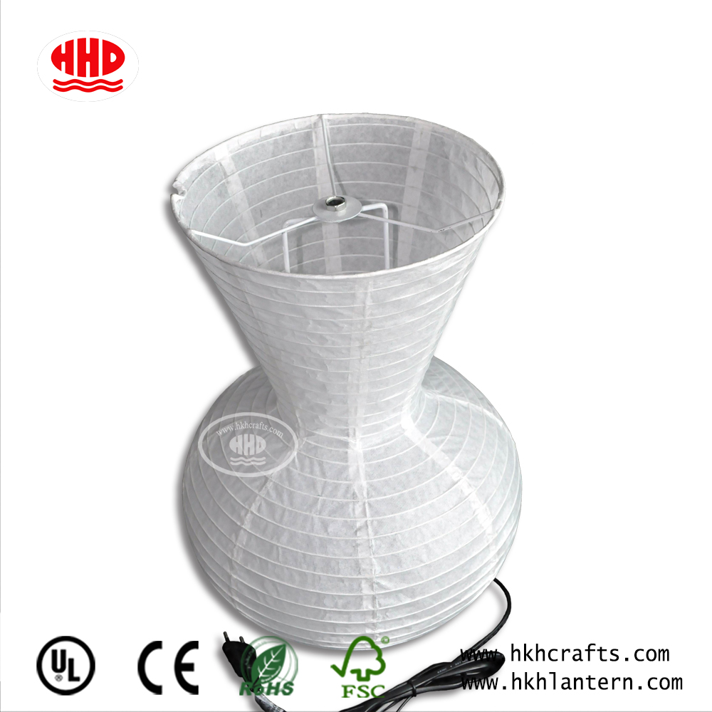 Chinese Supplier Handmade White Cheap Paper Table Lamp For Home Hotel Decor