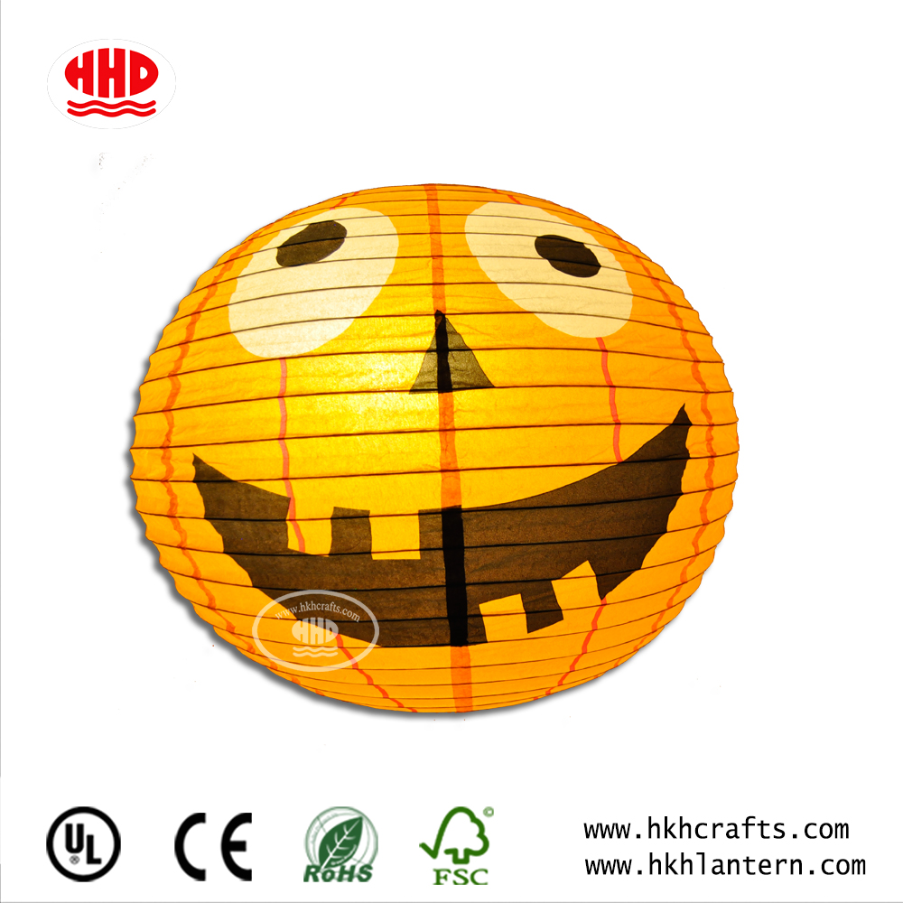 Cute Simple Idea for A Halloween Party Decoration Hanging Centerpiece Pumpkin Paper Lantern