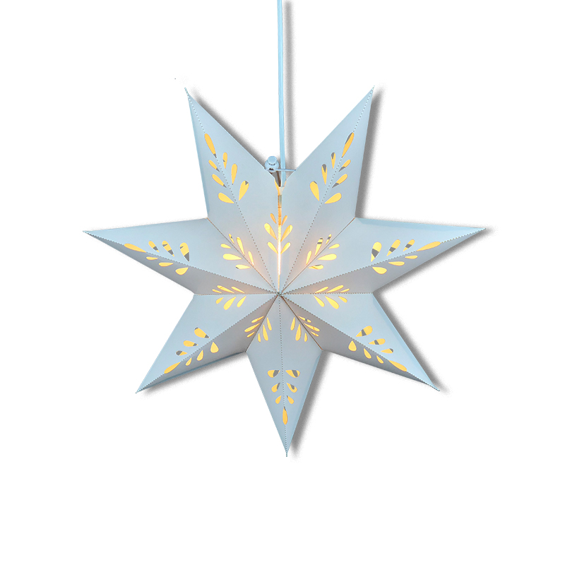 Chinese Supplier Christmas Paper Star Lantern Pattern Origami Led Light