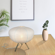 Paper Crafts Paper Shades Table Lamp Lantern with Bamboo Foot